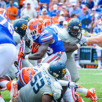 RB Mack Brown rushes the ball.  Gators vs Toledo.  8-31-13.