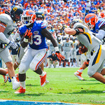 RB Mack Brown rushes in for a gator touchdown.  Gators vs Toledo.  8-31-13.