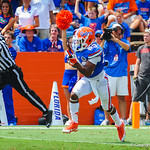 WR Solomon Patton catches the punt and runs downfield.  Gators vs Toledo.  8-31-13.