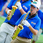 The gator band performs before the Toledo game.  Gators vs Toledo.  8-31-13.