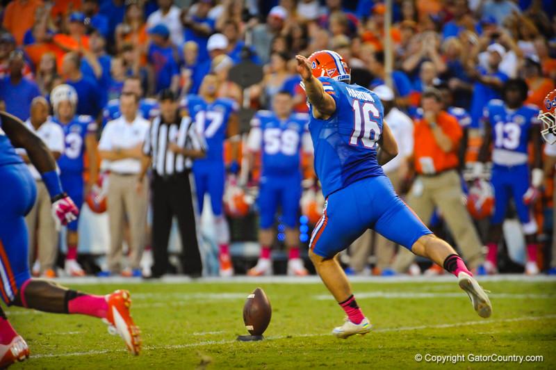 Florida Gators vs Arkansas Razorbacks.  Gainesville, FL.  October th, 2013.