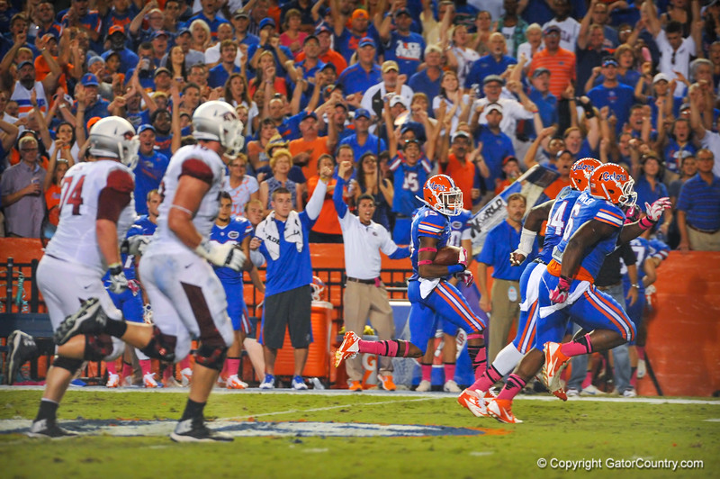 Florida Gators vs Arkansas Razorbacks.  Gainesville, FL.  October th, 2013.