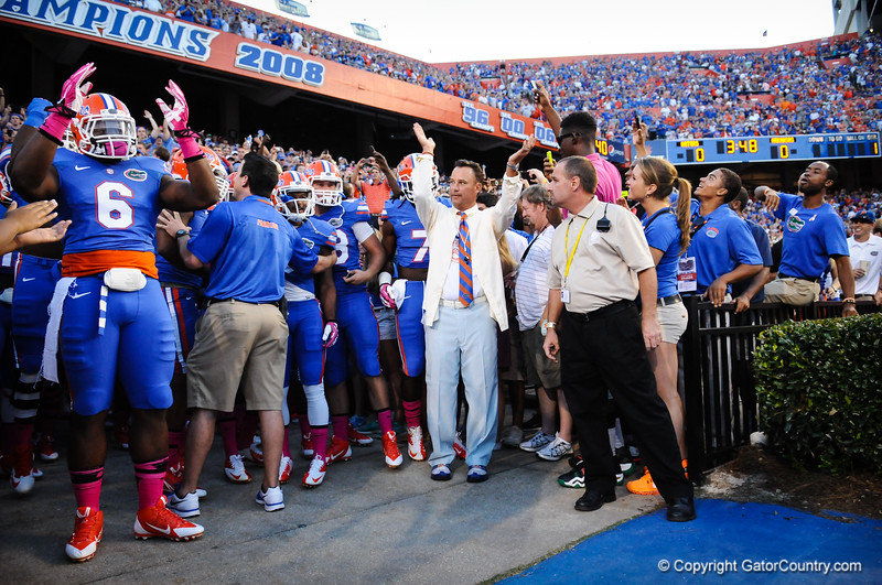 Florida Gators vs Arkansas Razorbacks.  Gainesville, FL.  October 5th, 2013.  Florida vs Arkansas; Gainesville, FL; Oct 5th, 2013.