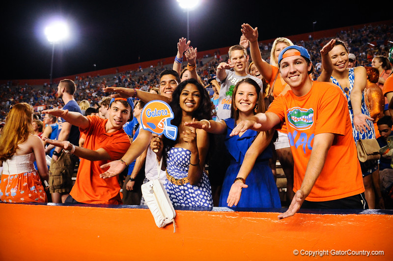 Florida Gators vs Arkansas Razorbacks.  Gainesville, FL.  October 5th, 2013.