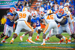 RB Mack Brown rushes up the middle late in the 4th quarter trying to run the clock out.  Gators vs Tennessee Volunteers.  September 21, 2013.
