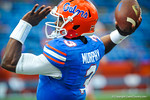 Gator QB Tyler Murphy warming up for the Tennessee game.  Gators vs Tennessee Volunteers.  September 21, 2013.