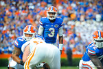 QB Tyler Murphy calls out the play at the line before snapping the ball.  Gators vs Tennessee Volunteers.  September 21, 2013.