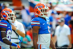 Gator WR Quinton Dunbar watches on during warm ups for the Tennessee football game.  Gators vs Tennessee Volunteers.  September 21, 2013.