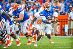QB Tyler Murphy hands off to RB Mack Brown.  Gators vs Tennessee Volunteers.  September 21, 2013.