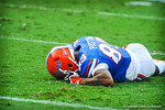 WR Solomon Patton frsutrated after dropping the pass.  Gators vs Tennessee Volunteers.  September 21, 2013.