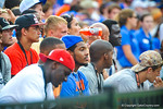 Recruits sit sideline and watch on.  Gators vs Tennessee Volunteers.  September 21, 2013.
