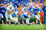 QB Tyler Murphy scrambles and takes off upfield for a gator first down.  Gators vs Tennessee Volunteers.  September 21, 2013.