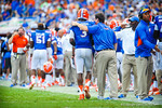Coach Will Muschamp and QB Tyler Murphy.  Gators vs Tennessee Volunteers.  September 21, 2013.