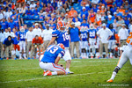 Kicker Austin Hardin tries for a late field goal, hoever, the kick goes wide.  Gators vs Tennessee Volunteers.  September 21, 2013.