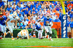 QB Tyer Murphy scrambles and runs upfield.  Gators vs Tennessee Volunteers.  September 21, 2013.