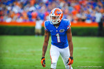 WR Quinton Dunbar lines up for the start of the play.  Gators vs Tennessee Volunteers.  September 21, 2013.