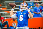 Gator QB Jeff Driskel throwing during warm ups for the Tennesse game.  Gators vs Tennessee Volunteers.  September 21, 2013.