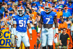 Gator linebackers Ronald Powell and Michael Taylor.   Gators vs Tennessee Volunteers.  September 21, 2013.