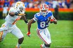 WR Solomon Patton catches the ball and runs upfield for a gator first down.  Gators vs Tennessee Volunteers.  September 21, 2013.