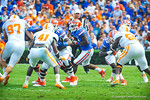 RB Kelvin Taylor gets the handoff and runs for a few yards.  Gators vs Tennessee Volunteers.  September 21, 2013.
