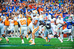 Tennessee QB Nathan Peterman throws downfield.  Gators vs Tennessee Volunteers.  September 21, 2013.