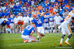 Kicker Austin Hardin tries for a late field goal, hoever, the kick goes wide.  Gators vs Tennessee Volunteers.  September 21, 2013.