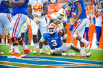 QB Tyler Murphy in the end zone for a gator touchdown.  Gators vs Tennessee Volunteers.  September 21, 2013.