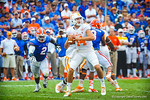 DL Dominique Easley rushes to get to Tennessee QB Justin Worley before he throws the ball. Gators vs Tennessee Volunteers.  September 21, 2013.