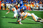 WR Solomon Patton is tackled after taking the opening kickoff.  Gators vs Tennessee Volunteers.  September 21, 2013.