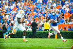 RB Matt Jones sprints around the outside.  Gators vs Tennessee Volunteers.  September 21, 2013.