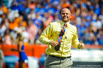 Florida Gator Hall of Fame Inductee and former QB Danny Wuerffel performs Mr. 2-Bits prior to the start of the Florida-Tennessee football game.  Gators vs Tennessee Volunteers.  September 21, 2013.