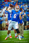 Gator QB Jeff Driskel throws a pass during warm ups.  Gators vs Tennessee Volunteers.  September 21, 2013.