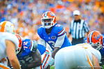 QB tyler Murphy brings his offense up to the line and calls out the play.  Gators vs Tennessee Volunteers.  September 21, 2013.