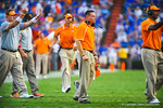 Tennessee head coach Butch Jones watches on as the game is about to come to a end.  Gators vs Tennessee Volunteers.  September 21, 2013.