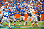 QB Tyler Murphy throws downfield to an open Solomon Patton.  Gators vs Tennessee Volunteers.  September 21, 2013.