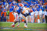 The gator defense tackle WR Pig Howard in the closing moments of the game.  Gators vs Tennessee Volunteers.  September 21, 2013.