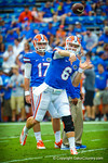 Gator QB Jeff Driskel throws a pass during warm ups for the Tennessee game.  Gators vs Tennessee Volunteers.  September 21, 2013.
