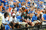 Recruits watch from the endzone during the Florida-Tennessee game.  Gators vs Tennessee Volunteers.  September 21, 2013.