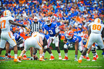 QB Tyler Murphy prepares to snap the ball and start the next gator play.  Gators vs Tennessee Volunteers.  September 21, 2013.
