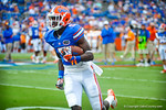 WR Ahmad Fullwood running with the ball after making the catch during warm ups.  Gators vs Tennessee Volunteers.  September 21, 2013.