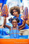 A young florida fan cheers after the Tennessee turnover.  Gators vs Tennessee Volunteers.  September 21, 2013.