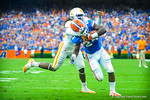 RB Matt Jones cuts to the outside and rushes in for a Gator touchdown.  Gators vs Tennessee Volunteers.  September 21, 2013.