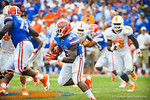 RB Mack Brown takes the handoff and rushes downfield.  Gators vs Tennessee Volunteers.  September 21, 2013.