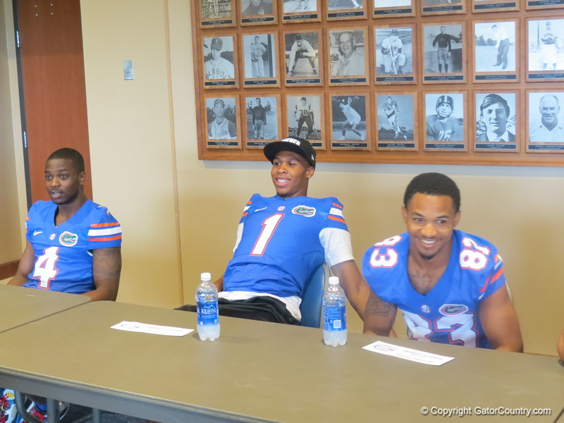 Left to right, Andre Debose, Quinton Dunbar and Soloman Patton.