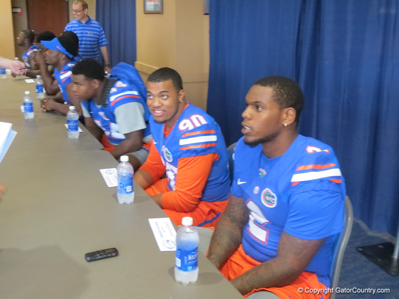 Right to left, Dominique Easley and Jonathan Bullard.