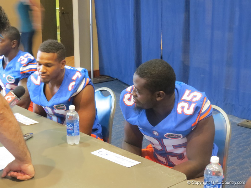 From right to left, Gideon Ajagbe and Ben Peacock