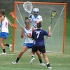 Emily Dohony (2), Sam Farrell (15) and Mickey Meagher (5) defend the goal during the Florida Gators' 14-7 win against the Northwestern Wildcats in the ALC Championship on Saturday, May 5, 2012, at Donald R. Dizney Stadium in Gainesville, Fla. / Gator Country photo by MIke Capshaw