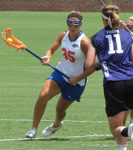 Gabi Wiegand during the Florida Gators' 14-7 win against the Northwestern Wildcats in the ALC Championship on Saturday, May 5, 2012, at Donald R. Dizney Stadium in Gainesville, Fla. / Gator Country photo by MIke Capshaw