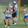 U's Emily Dohony (2), Mikey Meagher (goalkeeper), Nora Barry (14) and Kayla Stolins (20) during the Florida Gators' 14-7 win against the Northwestern Wildcats in the ALC Championship on Saturday, May 5, 2012, at Donald R. Dizney Stadium in Gainesville, Fla. / Gator Country photo by MIke Capshaw