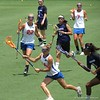 Nora Barry (14), Brittany Dashiell (22) and Jamie Reeg (7) during the Florida Gators' 14-7 win against the Northwestern Wildcats in the ALC Championship on Saturday, May 5, 2012, at Donald R. Dizney Stadium in Gainesville, Fla. / Gator Country photo by MIke Capshaw